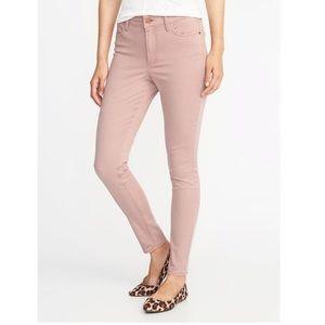 NWT! Mauve Sateen Super Skinny Rockstar Jeans!